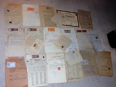 India & States-Large Collection Of Mostly Complete Revenue Docs With Stamps-2