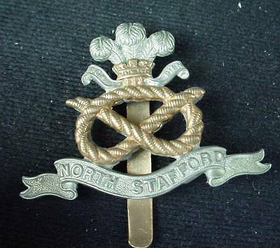 WW1 British Army  North Stafford Regt  Cap Badge WWI