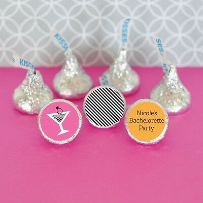 108 Personalized Bachelorette Party Hershey's Kisses Labels Wedding Favors