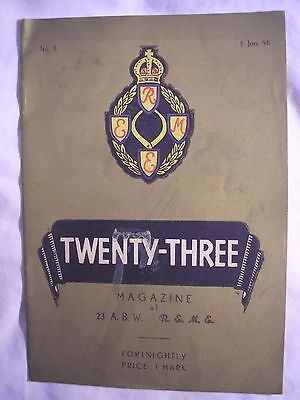 REME Magazine 1946 BAOR Germany British Army History 23 ABW Workshop