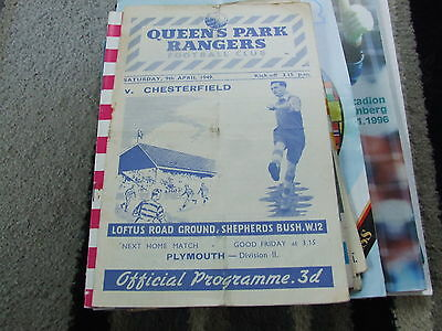 Queens Park Rangers V Chesterfield 1948-9