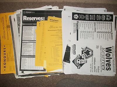 WOLVERHAMPTON WANDERERS WOLVES HOMES Reserves U23 1990-2017 £1.99 Each Post Free