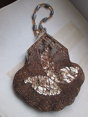 1920S, Flapper, Deco, Nouveau Style Beaded Bag