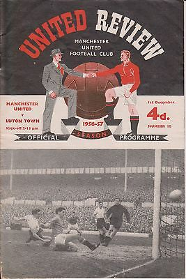 Manchester United V Luton Town 56/57 United Review No.10