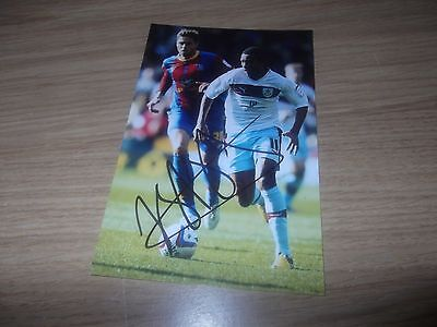 Burnley fc Junior Stanislas signed 6x4 action photo