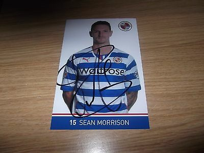 Reading fc  Sean morrison signed 6x4 action photo