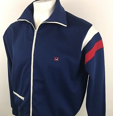 JIMMY CONNORS ROBERT BRUCE Vintage Tennis Warm Up Track Jacket 1970's (C96)