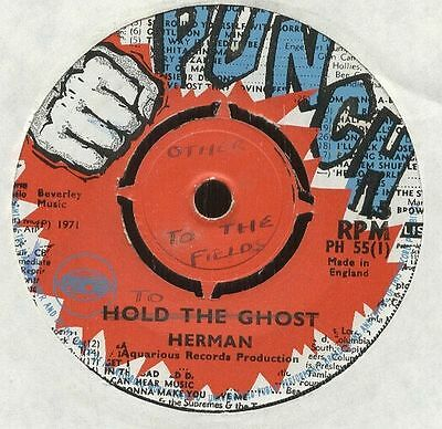 "HERMAN Chinloy UK 1971 Reggae 7"" Single Punch HOLD THE GHOST To The Fields ♫♫♫"