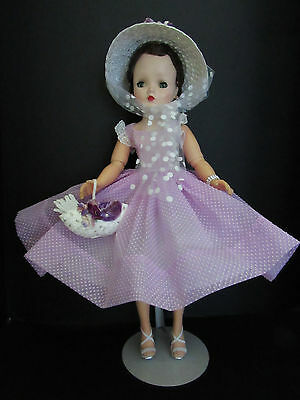 A Vision In Lilac--Brunette Cissy In Dotted Swiss