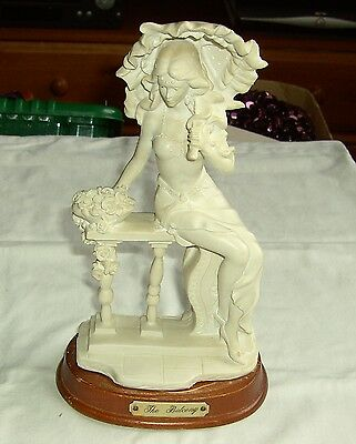 "Vintage Parian  Lady Figurine ""the Balcony"" Height 10""  (B)"