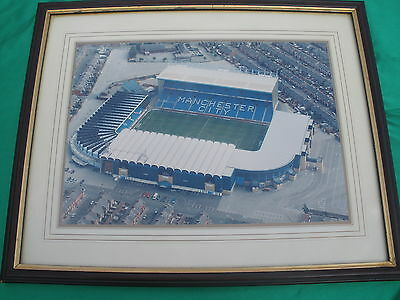 Manchester City FC Memorabilia MAIN Road Arial Photo + Pennant + Brother Shirt