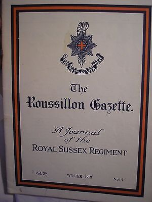 Royal Sussex Regiment Journal 1950  History British Army PWRR