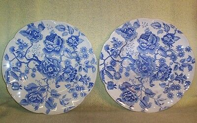 "2 Old JOHNSON BROS ENGLAND ""ENGLISH CHIPPENDALE"" 10"" Dinner Plates Rough Shape"