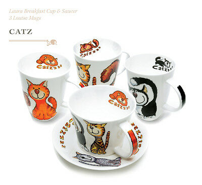 Roy Kirkham Mug Catz Red Brown / Grey NEW