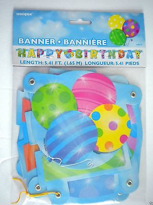 """Colourful Balloons """"happy Birthday"""" Jointed Letter Banner ~ 5.41 Ft."""