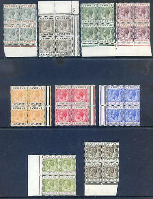 Cyrpus King George 5th 1924-28 set to 6pi unmounted mint (2017/06/16#08)