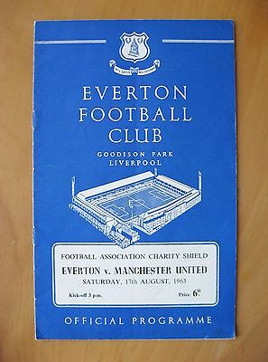 EVERTON v MANCHESTER UNITED Charity Shield 1963 Exc Condition Football Programme