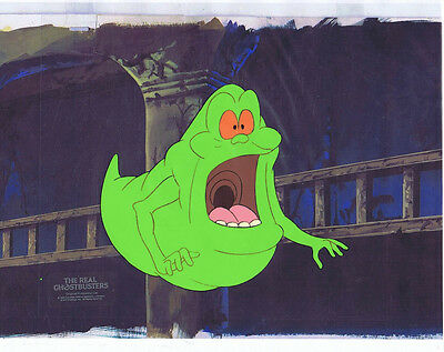 The Real Ghostbusters Original Production Animation Cel & Copy Bkgd #A21834