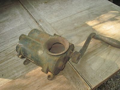 Cast Iron Antique Manual #12 Meat/Tobacco Grinder, Patent Mar.12, 1859, Works