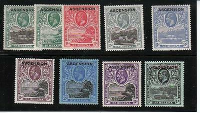 ASCENSION GOVERNMENT HOUSE O/P ON ST HELENA Sc 1-9 VF MINT CAT $436