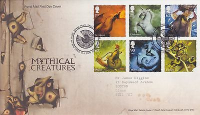 Gb Stamps First Day Cover 2009 Mythical Creatures Edinburgh Royal Mail