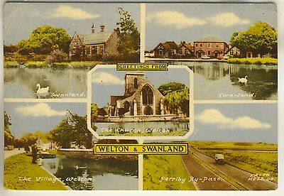 A Frith's Multiview Post Card of Welton & Swanland. East Yorkshire.