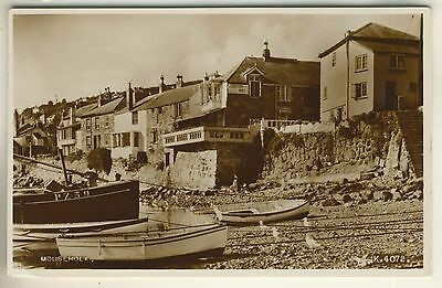A Valentine's Real Photo Post Card of Mousehole. Cornwall.