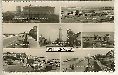 A Valentine's Real Photo Multiview Post Card of Withernsea. East Yorkshire.