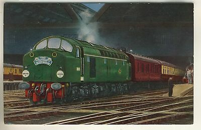 A Railway Post Card of The Flying Scotsman. Hauled by diesel