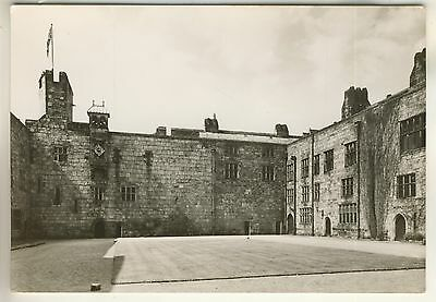 A Real Photo Post Card of Chirk Castle. The Courtyard. Denbighshire.
