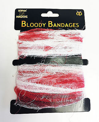 Bloodied Bandages Zombie Fancy Dress Accessories Fake Blood Bandage Bloody 7m
