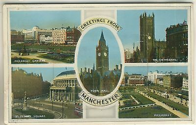 A Novelty Pull-Out Postcard of Manchester