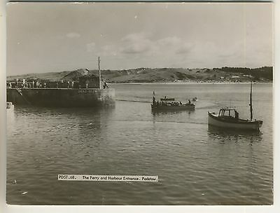 A Frith's Real Photo Post Card of The Ferry and Harbour Entrance. Padstow.