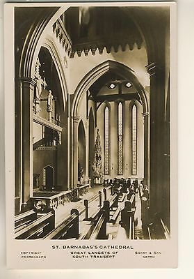 An Early Real Photo Post Card of St, Barnabas's Cathedral. Nottingham. Interior
