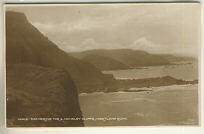 Early Frith's Real Photo Post Card of Catherine Tor & Mansley Cliffs, Hartland