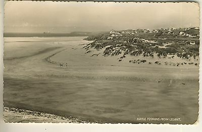 A Real Photo Post Card of Hayle Towans From Lelant. Cornwall