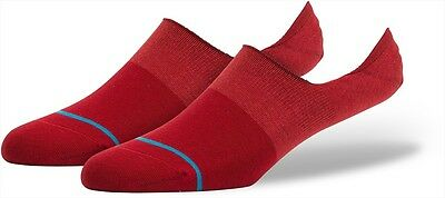 Stance Combed Low Athletic Trainer Socks, L, Spectrum Super (Red)