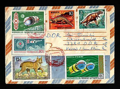 16141-MONGOLIA-AIRMAIL COVER ULAN-BATOR to GERMANY (ddr).1972.Mongolie.brief.