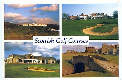 Scottish Golf Courses  Turnberry Muirfield Troon St Andrews  Multi View Postcard