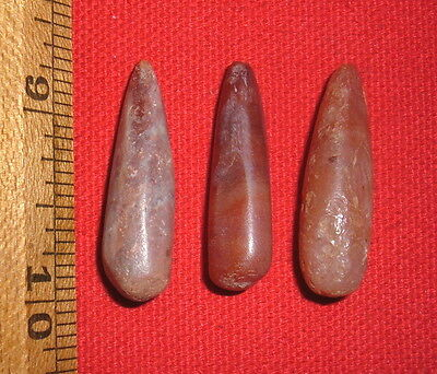 (3) Select Tapered Sahara Neolithic Stone Plugs, Prehistoric African Artifacts