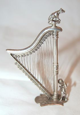 Antique Hanau Dutch Silver Harp - Samuel Boyce Landeck, 1895