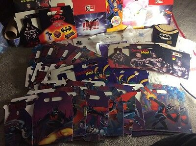 huge collection of US batmsn related fast food containers 99%unused mint boxes