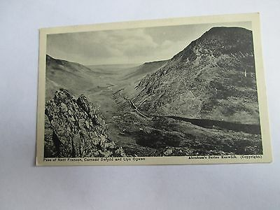 Postcard of Pass of Nant Francon, Carnedd Dafydd and Lyn Ogwen (Unposted)