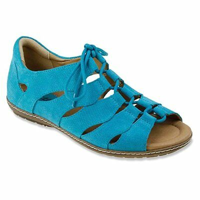 3b6a3809c3a3 Earth Women s Plover Turquoise Adjustable Lace Up Sporty Sandal US 5 B (M)