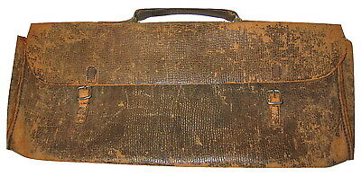 Very Old ANTIQUE LEATHER DOCTOR'S BAG No INSTRUMENTS/ TOOLS VINTAGE Satchel Tote