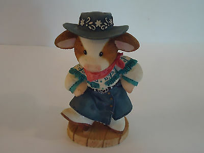 Vtg 1998 ENESCO MARY'S MOO MOO'S Moo-in To The Music Figurine Cow Cute L@@K