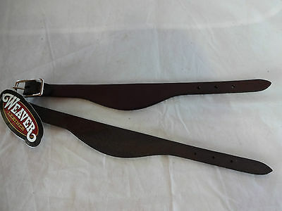 New Weaver Leather Flared Saddle Fender Hobble Straps Pair Dark BR Western Horse