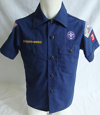 BOY SCOUTS of AMERICA Official Uniform Short Sleeved Shirt in Youth sz Small