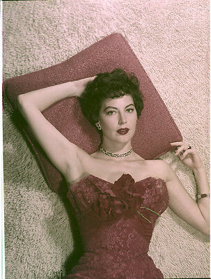 AVA GARDNER Stunning Glamour Portrait Vintage Original 8x10 Photo TRANSPARENCY
