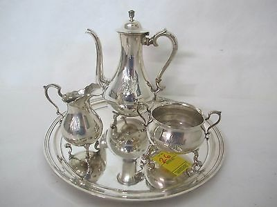 19Th C. Tiffany & Co. 4 Piece Tete-A-Tete Sterling Tea Set